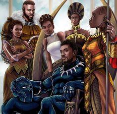 Image about art in Marvel & Etc 📰 by HumansHauntMe Black Panther Art, Black Panther Marvel, Black Love Art, Black Girl Art, Wakanda Marvel, Style Afro, Image Positive, Black Art Pictures, Grafiti