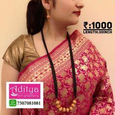 Jewelry Design Earrings, Gold Jewelry, Gold Mangalsutra Designs, Handmade Jewelry Designs, Gold Jewellery, Gold Bridal Jewellery