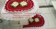 Tapete oval bico duplo passo a passo - TAPETE PARA TAMPA DO VASO - http://www.croche.com.br/jogo-de-banheiro-oval-bico-duplo-tapete-da-tampa-do-vaso-1/