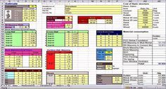 This is a sample cost estimating excel sheet. It is a useful construction program to figure out the cost of a basic building structure.