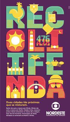 Parabéns para Recife e Olinda! poster criado pela Mooz Branding