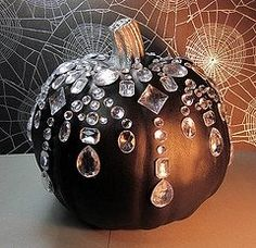 Bejeweled Pumpkin -  I just love this!  Definitely doing this!