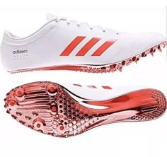 timeless design d5beb 7381e Adidas adizero Prime SP Sprint Track Spikes White Orange (BB4117) Sz 9.5