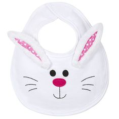 Bunny Bib: Easter Baby Bib for with Bunny Rabbit Face and Ears, Size 0-6 Months. Buy online, or Visit Babytalk in Northport, AL (Tuscaloosa)