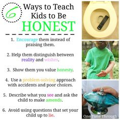 6 Ways to Teach Kids to Be Honest - Read more about why kids lie and what to do about it!  {One Time Through} #lying #honesty #kids