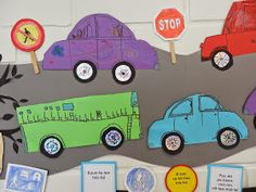 Projekti etenee... ... tänään saatiin valmiiksi autot ja liikennemerkit. Kaikki autot eivät mahtuneet seinälle, joten suunnitteilla on lis... First Grade Science, Third Grade, Origami, Education, Character, Anna, Citizenship, Transportation, Origami Paper