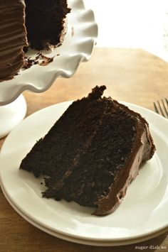 The Best Sour Cream Fudge Cake