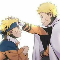 young naruto and older naruto... hmm... i wonder what would happen in they actually meet in the anime