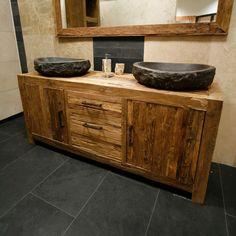 Wohnraum ››› Baden: Waschtisch Gäste WC Eiche » Beim Einmöbler ... | {Badmöbel altholz 31}