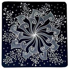 #zentangle Tangle Doodle, Doodles Zentangles, Zen Doodle, Zentangle Patterns, Doodle Art, Flower Coloring Pages, Black White Art, Doodle Designs, Zen Art