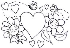 free valentine coloring pictures to print off Easter Coloring Pages, Online Coloring Pages, Coloring Pages To Print, Coloring Sheets, Coloring Books, Cat Valentine, Valentine Day Cards, Valentines Diy, Easy Diy Valentine's Day Cards