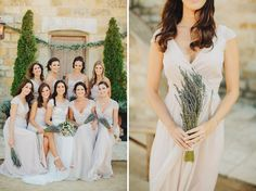 Bridal party poses. I like the idea of a picture of each girl, and I also love this group shot.