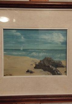 1980/11 - Paesaggio marino / Seaside landscape. By me! 🎨 MM