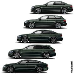 Audi A4, A6 and A7