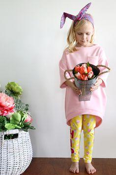 A cocoon sweatshirt dress.