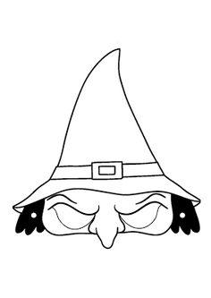 Atividades prontas para imprimir: Máscaras de bruxas - máscara de bruxa para o dia das bruxas