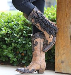 16ab87eef1 Corral Brown Chocolate Studs and Side Fringe A3149. Cowboy Boot  MarkenHinterer ZopfSeitliche FransenFransen StiefelCowgirl ...