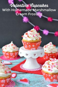 Valentine Cupcakes With Homemade Marshmallow Cream Frosting Recipe Happy Valentine Day HAPPY VALENTINE DAY | IN.PINTEREST.COM WALLPAPER EDUCRATSWEB