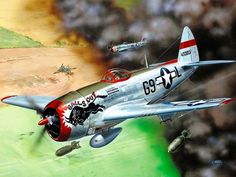 """Balls Out"" P-47 Thunderbolt Nose Art"