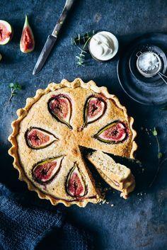 Rezept für Feigen Frangipane Tarte – ein leckerer Mandelcreme Feigen Kuchen