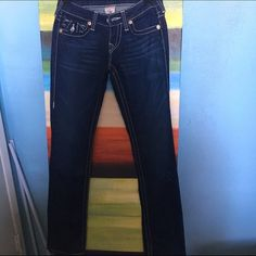 Flare True Religion Jeans Practically brand new, these jeans are a steal!! True Religion Jeans Flare & Wide Leg