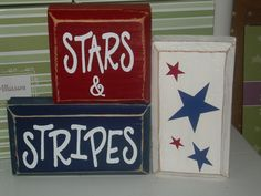 So cute! I need patriotic decorations for holidays!