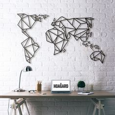 (Yeni) Metal Poster - World Map
