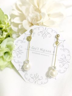 cotton pearl long *ear accessory*
