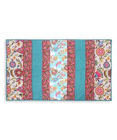 Look at this #zulilyfind! Blue & Fuchsia Paisley Heaven Throw by Karma Living #zulilyfinds