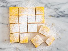 On the verge of spring, when you're craving fresh flavors, but few fruits are in season, lemon bars are just the thing. My version is something of a cross between lemon curd and lemon meringue pie, soft and rich with egg yolks, but thick enough to slice into neat squares—no cornstarch required.
