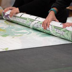 Team work makes the dream work! Ceiling Panels, Custom Wallpaper, Green Print, Retail Design, Pos, Teamwork, Stretch Fabric, Signage, Digital Prints