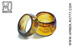Natural Solid Amber Rings