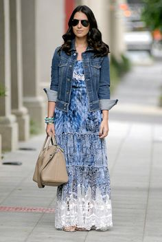 50 Trendy Ideas for fashion hijab casual maxi skirts denim jackets Long Skirt Outfits, Maxi Outfits, Spring Outfits, Vogue Fashion, Hijab Fashion, Fashion Dresses, Grey Wedding Shoes, Casual Dresses, Casual Outfits