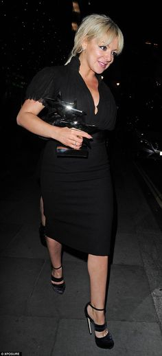 Blonde ambition: Sheridan Smith stepped out with an interesting take on tousled hair after she picked up her accolade for Best Actress at the TV Choice Awards on Monday Sheridan Smith, Mark Wright, Leaf Tv, Tousled Hair, Michelle Keegan, British Actresses, Choice Awards, Best Actress, Dapper