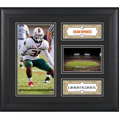 "Sean Spence Miami Hurricanes Fanatics Authentic Framed 15"" x 17"" Collage - $49.99"