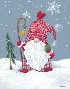 Christmas Rock, Christmas Gnome, Winter Christmas, Vintage Christmas, Christmas Clipart, Christmas Printables, Christmas Pictures, Christmas Drawing, Christmas Paintings