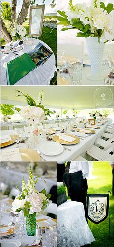 White yellow green grass