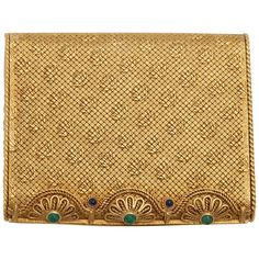 4f05d5c1c79c Van Cleef & Arpels - Opening Cabochon Compact Emerald,sapphire Yellow Gold
