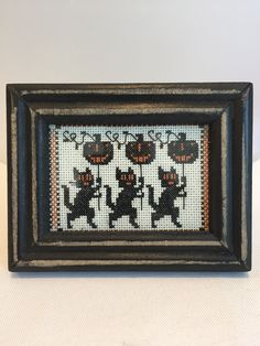 Kitties in Parade, a Vintage Halloween Cross stitch