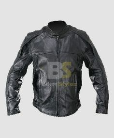 NAKED COWHIDE BLACK NOXIOUS MOTORCYCLE LEATHER JACKET