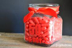 50 & Hot Jar for 50th Birthday gift