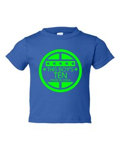 This BOY'S TEN Made In 2004 TENTH Happy  Birthday Printed Graphic Fashion Tee Kids Youth Toddler Infant T Shirt Birthday T Shirt Only Here by HarplynDesigns on Etsy https://www.etsy.com/listing/269405018/this-boys-ten-made-in-2004-tenth-happy