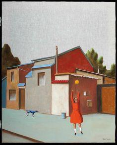 Les curiosités huile sur toile 60 x 80 cm photo : Marcel Partouche-Sebban
