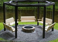 cool firepit ideas - Google Search