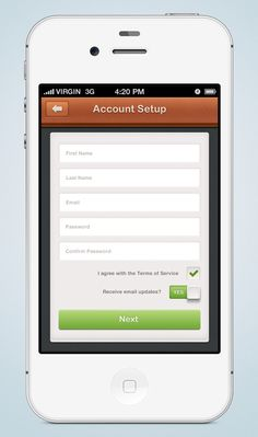 Dribbble - iphone_sign_up_screen_wip.png by James Cipriano