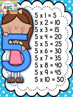 - 🌎Mundo Kids By Marly💋 - Tabuada pronta pra imprimir ! 1st Grade Math Worksheets, First Grade Activities, Fun Worksheets, Kids Learning Activities, Reward System For Kids, Spanish Lessons For Kids, Flashcards For Kids, Math Addition, Math For Kids