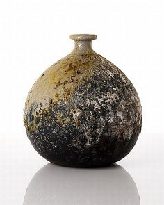 Bizen style blossom vase by Col Levy