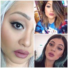 M.A.C Pink Treat Cremestick liner + Brave lipstick= Kylie Jenner Lips