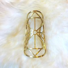 """HPPamela Love Large Statement Gold Cuff Brand new. Does not come with tags on it. 6"""" long 2.25"""" diameter at smallest point. Brass. No trades, no PayPal. Pamela Love Jewelry Bracelets"""