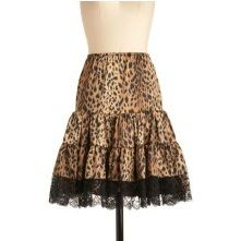Cheetah Print Petticoat.OMG I want this.